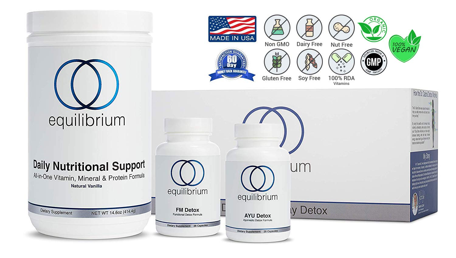 Equilibrium Nutrition 7 Day Revolutionary Full-Body Vanilla Detox. All Natural Cleanse, Organic Superfood Nutrients for Fat Burning, More Energy, Removal of Toxins, Decreased Bloating by Equilibrium Nutrition