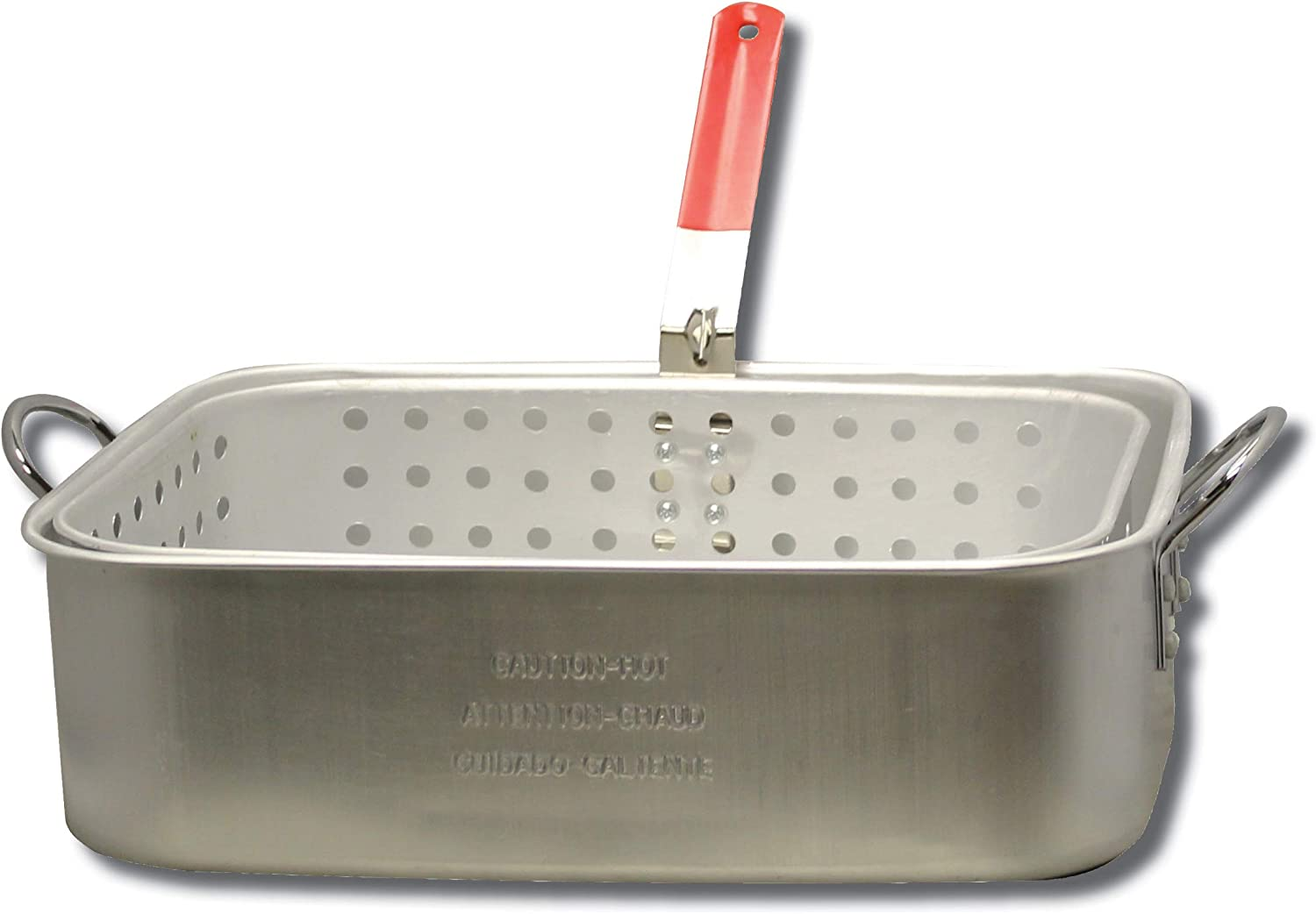 King Kooker KK6 15-Quart Aluminum Rectangular Fry Pan and Basket