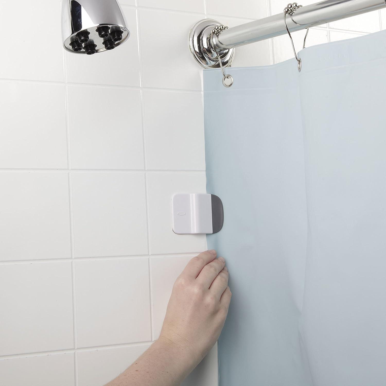Amazon.com: OXO Good Grips Shower Curtain Liner Splash Guard Clip ...