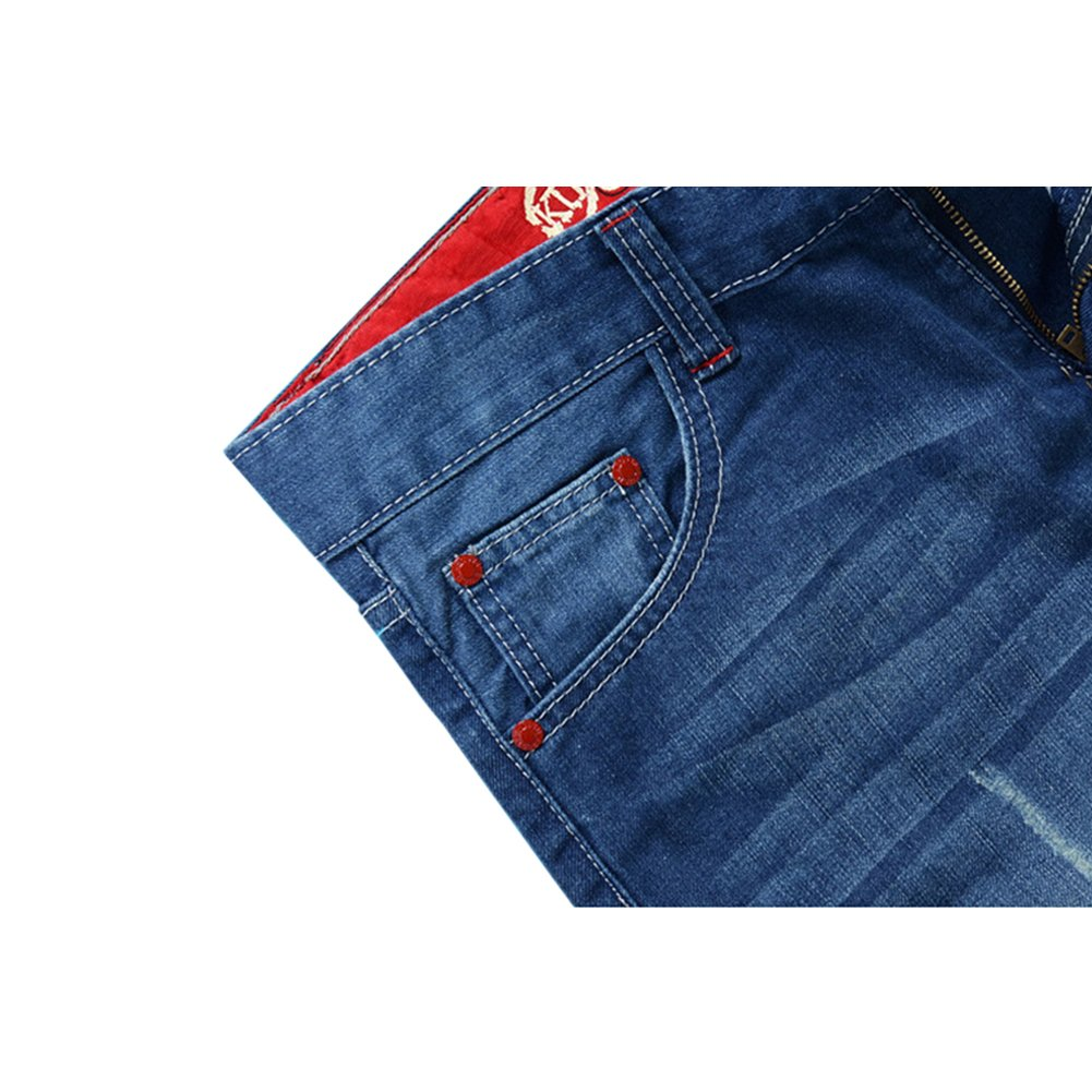 34, Style 4 Chen Mens Denim Shorts Ripped Mid Waist Hip hop Jeans Shorts
