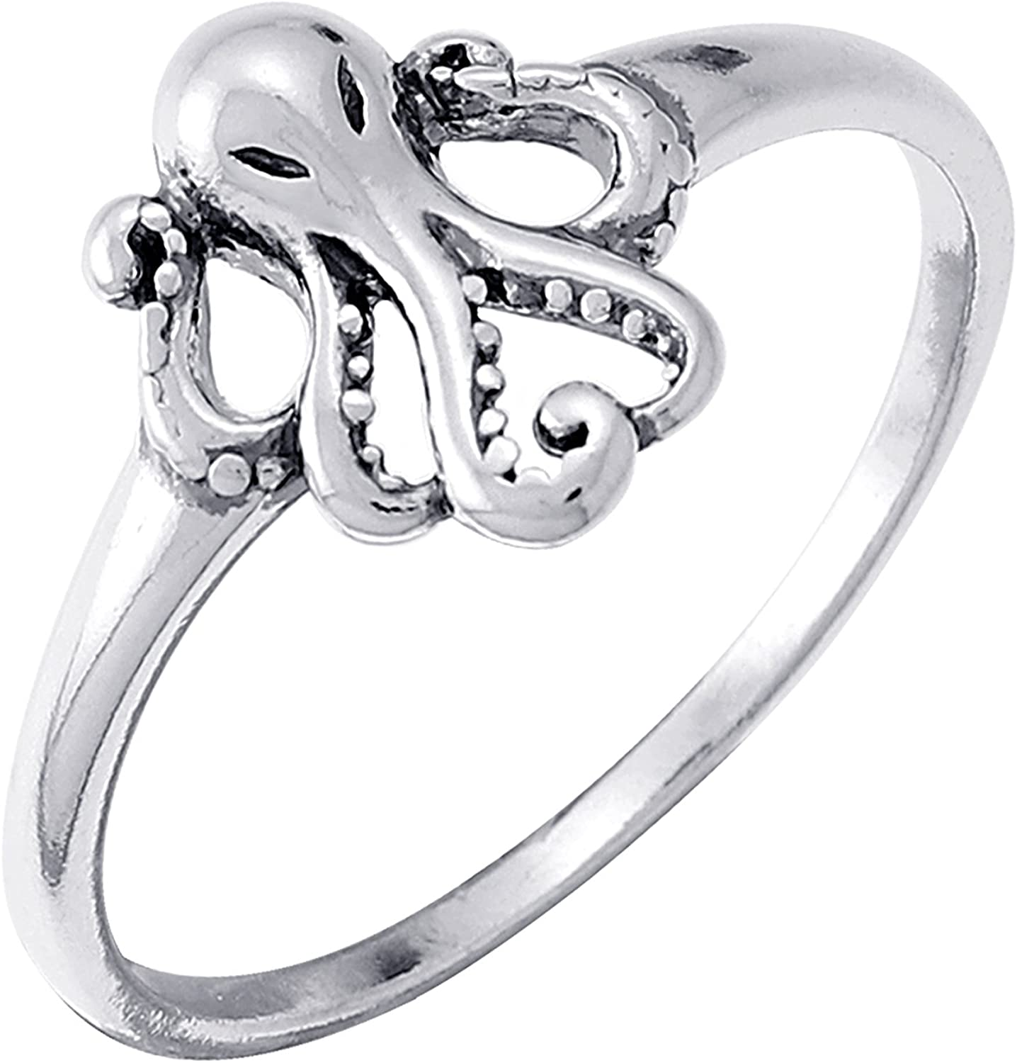Boma Jewelry Sterling Silver Octopus Ring