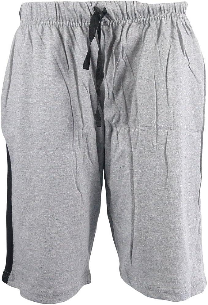 IMTD para hombre mezcla de algodón Lounge pijamas cortos vacaciones de playa Gimnasio Pantalón Corto De Deporte pijama pijama hombre Gris gris extra-large: Amazon.es: Ropa y accesorios