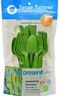 product image for Preserve Heavy Duty Cutlery - Apple Green - 8 Sets 24 Pieces Total (Pack of 2)
