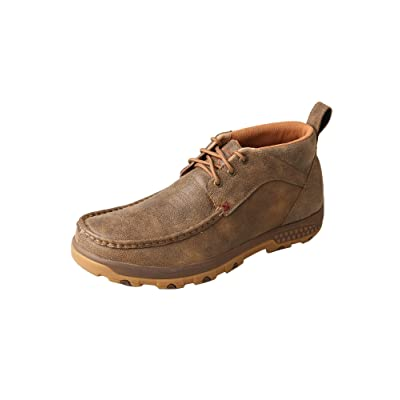 Twisted X Men's CellStretch Driving Mocs Casual Lace-Up Chukka Boots - Bomber | Loafers & Slip-Ons