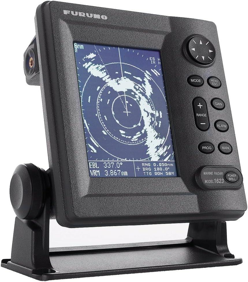 "Furuno 1623 16Nm Range 2.2KW Transmitter 15"" Dome Monochrome Radar, 6"""