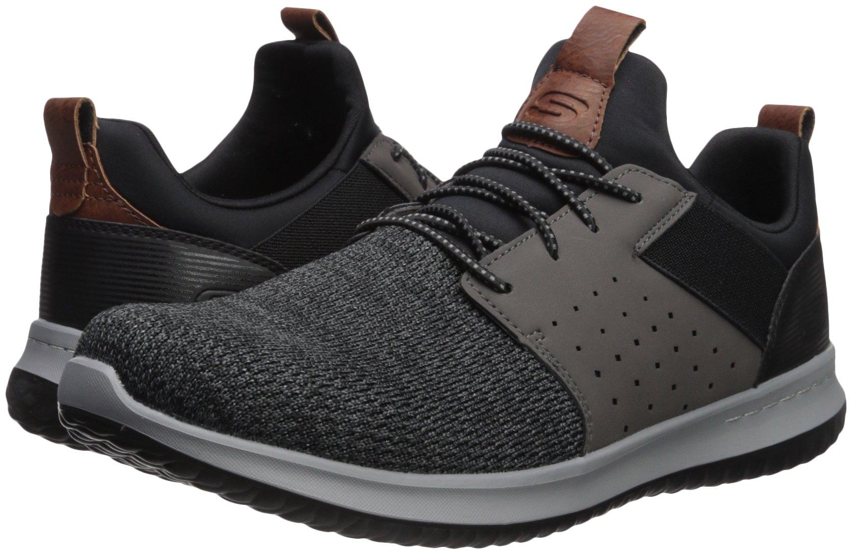 Skechers Men's Classic Fit-Delson-Camden Sneaker,black/Grey,11 M US
