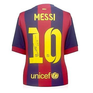 2014-15 de Barcelona camiseta de fútbol firmada por Lionel Messi