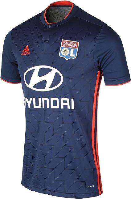 adidas 2018 2019 Olympique Lyon Away Football Soccer T Shirt Maillot (Kids)