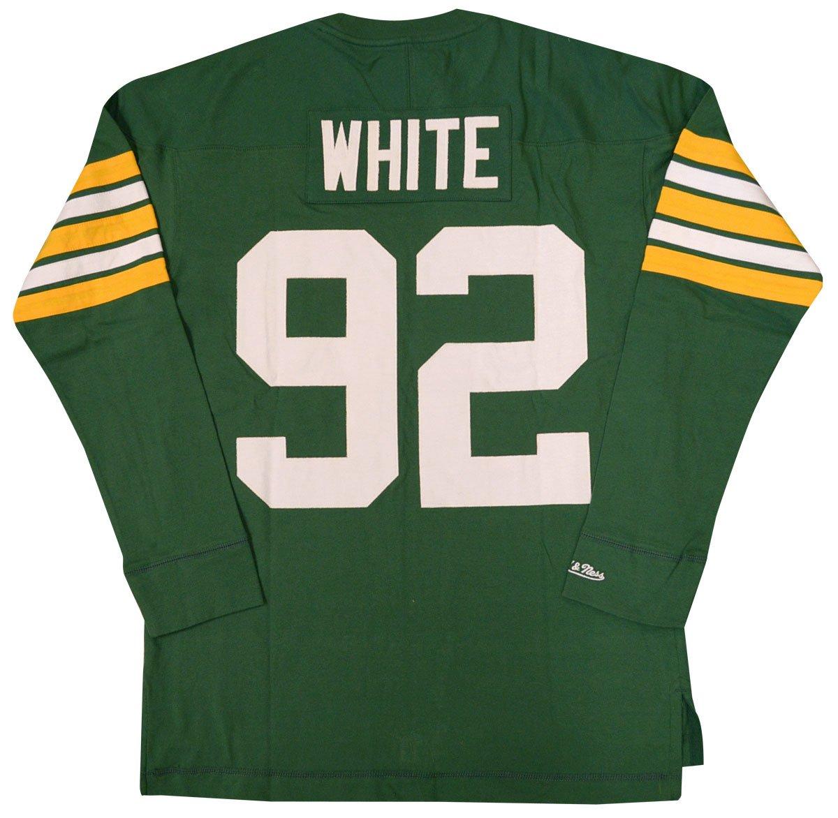 6e584b5bec6 Amazon.com : Mitchell & Ness Reggie White Green Bay Packers Name & Number  Longsleeve Tee : Clothing