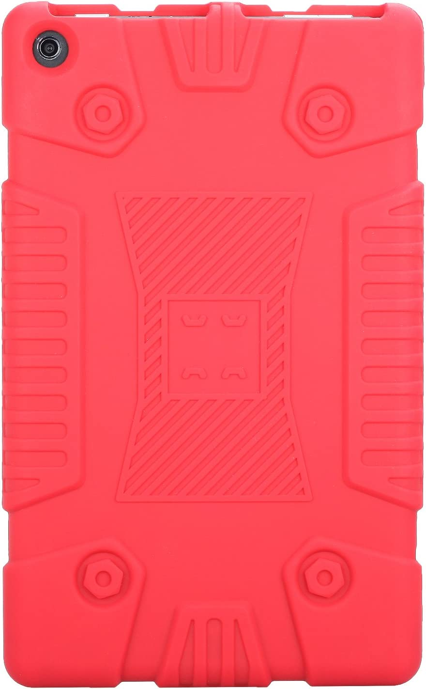 Heavy Duty Soft Kid Proof Case Full Body Protection Cover Silicone Lightweight Shell Waterproof for  Kindle Fire HD8 2017 All New Fire HD8 2017 Case navy blue