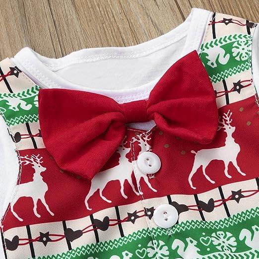 09aaa25f2ae Amazon.com  Nevera Xmas Outfits Cute Newborn Infant Baby Boy Girl Deer  Romper Bodysuit+Skirt+Headband Clothes Set  Clothing