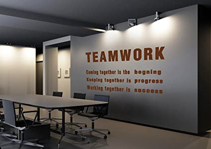 Amazon.com: LUCKKYY Teamwork Definition Office Vinyl Wall Decals ...