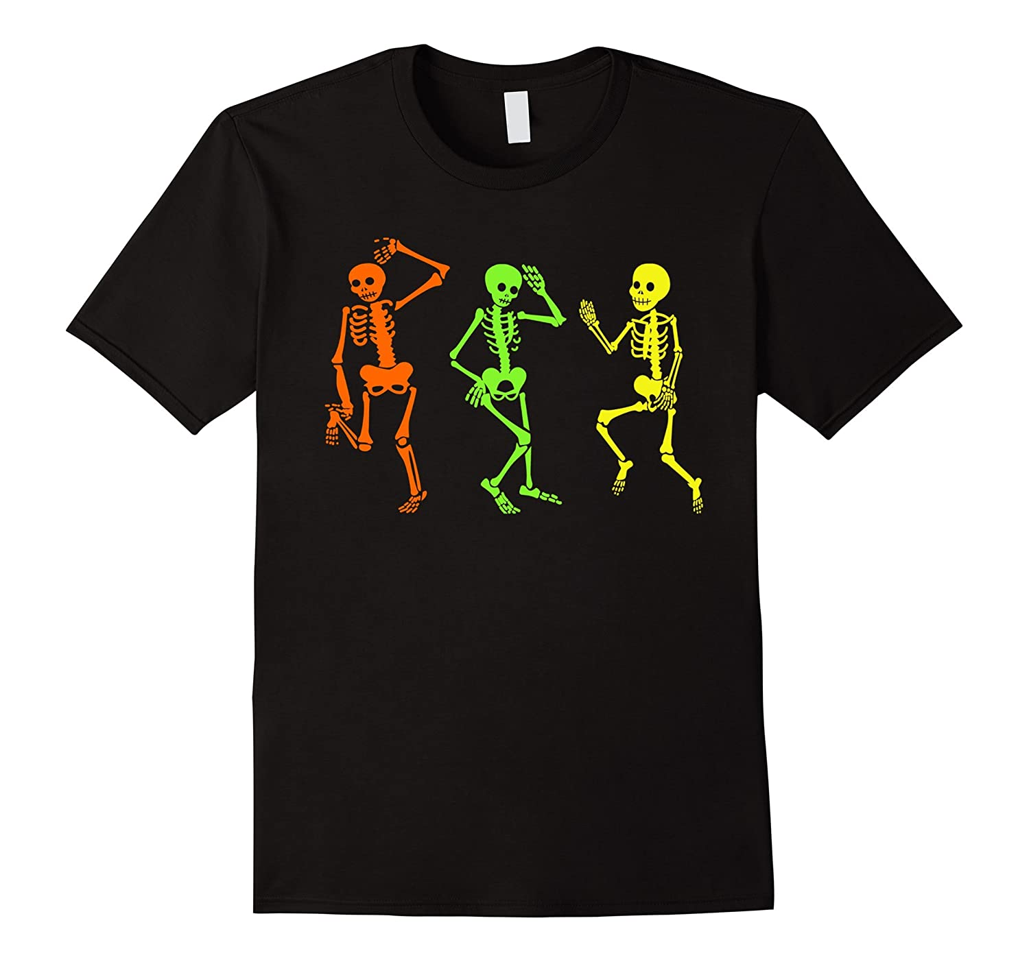 Skeleton tshirt Halloween Costume Three Glow in the Dark-FL
