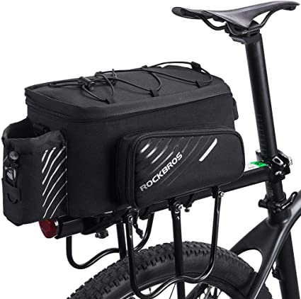 ROCKBROS Bike Bicycle Black Rear Rack Pack Bag Large Capacity Pannier Bag