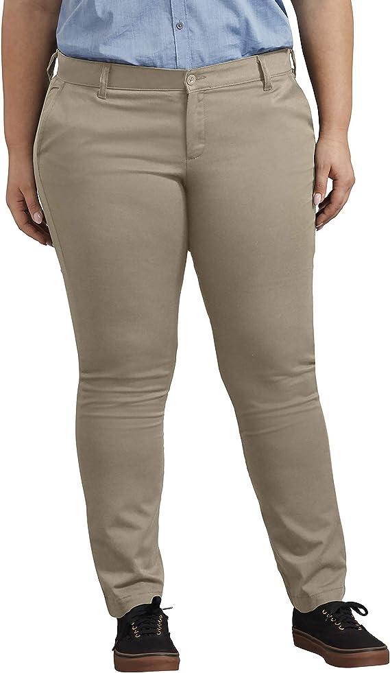 Dickies Pantalon De Sarga Ajustado De Tiro Medio Pantalones Tipo Caqui Para Mujer Amazon Com Mx Ropa Zapatos Y Accesorios