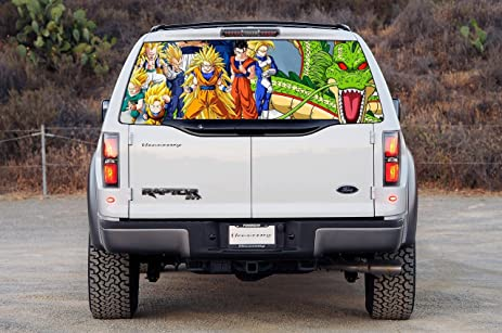 Dragon ball z car window graphic decal sticker truck suv van goku vegeta 019 large
