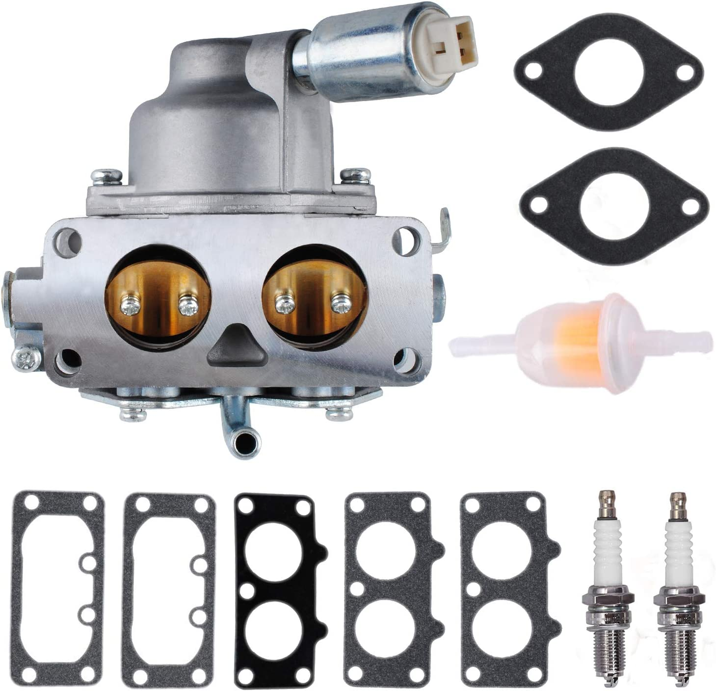 Gekufa 796227 Carburetor Carb with Gasket Kit Fit for Brigg-s & Stratton 407777 406777 40R877 445677 445877 44L777 44M777 Models 20HP 21HP 23HP 24HP 25HP intek V-Twin Engine, LA135