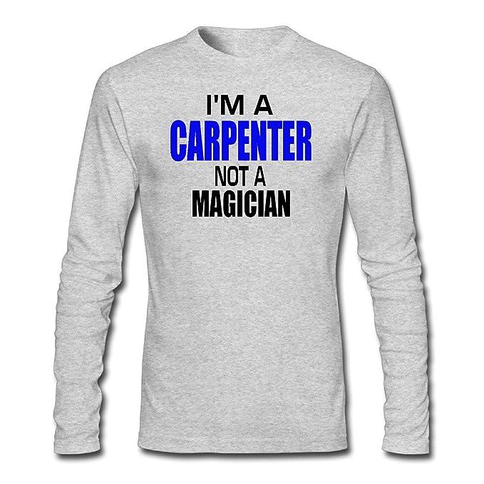 d33b0196 Amazon.com: WYLIN Men's I'm a Carpenter Not a magician Long Sleeve T-Shirt:  Clothing