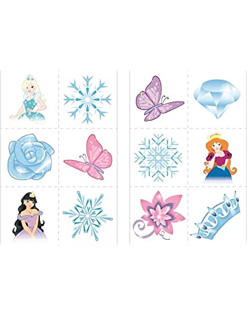 d2ce70f6c HENBRANDT 24 x Ice Princess Snow Queen Temporary Tattoos Children Girls  Party Bag Stocking Filler Toy