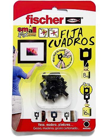 FISCHER 518168 Fijacuadros Negro (Envase de 8 Ud.)),
