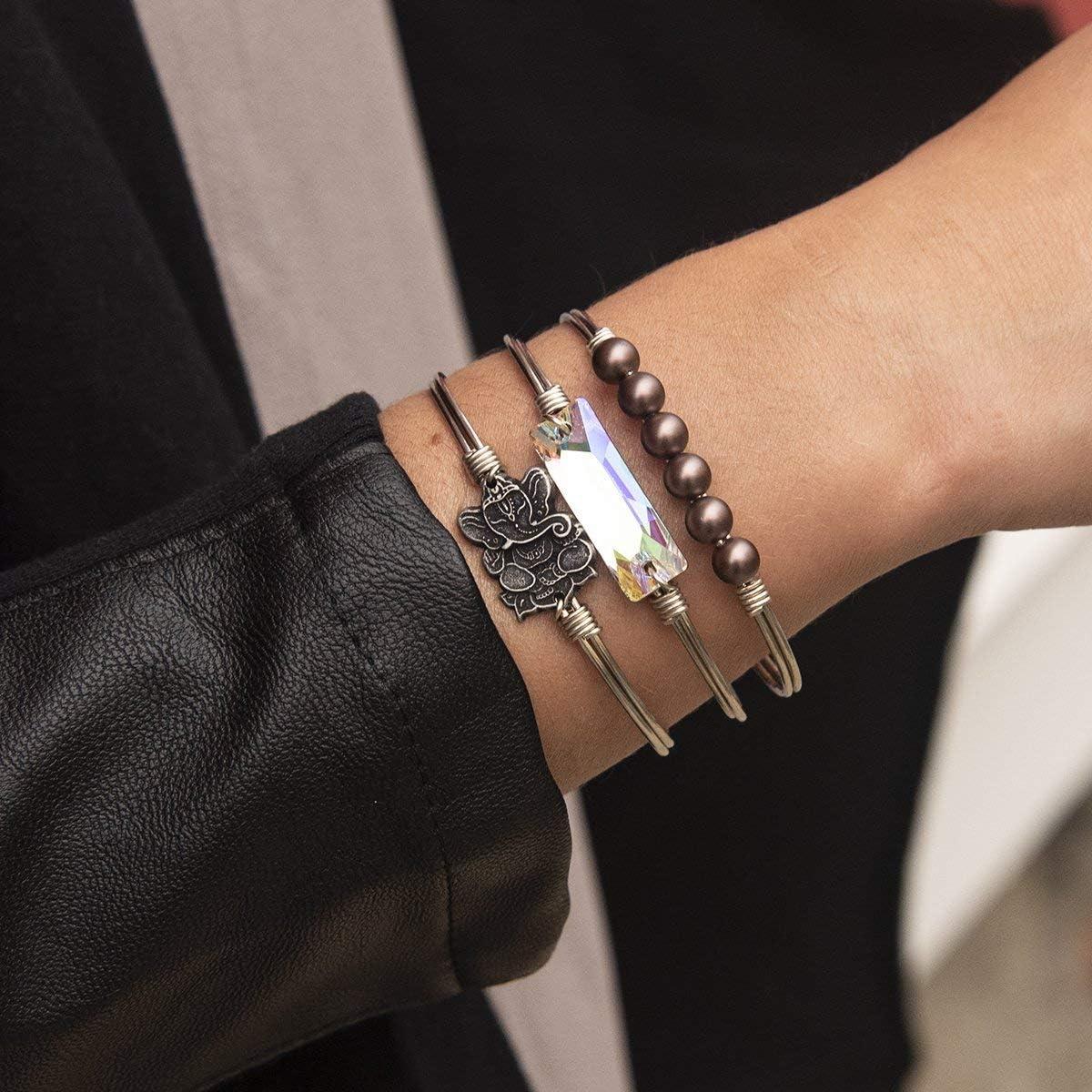 Luca Danni Ganesha Bangle Bracelet for Women Made in USA