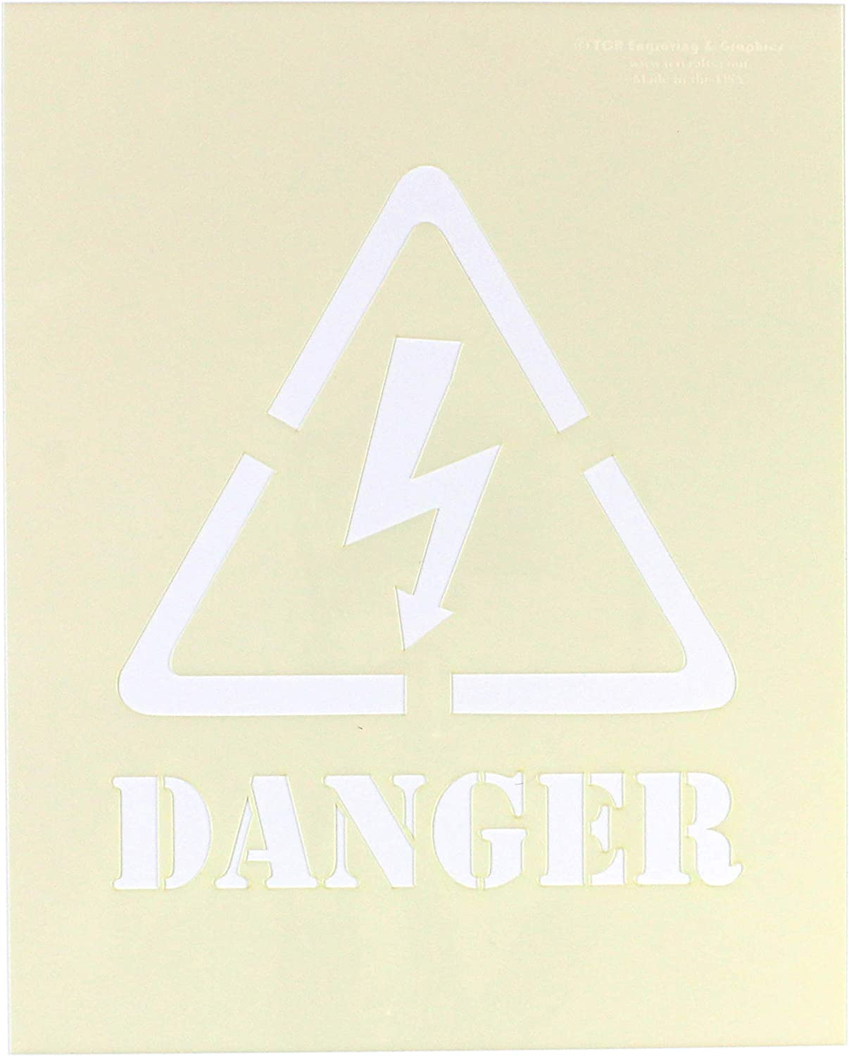 HIGH VOLTAGE ENGRAVED LASER CUT SIGN 3 1//2 INCHES BY 14 INCHES