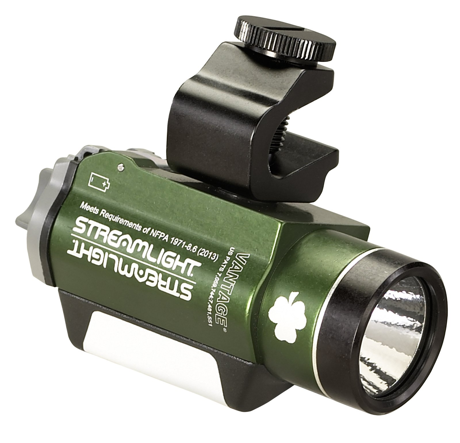 Streamlight 69189 Vantage Helmet Mounted Light with White/Green LEDs and Two 3-Volt CR123A Lithium Batteries, Coyote