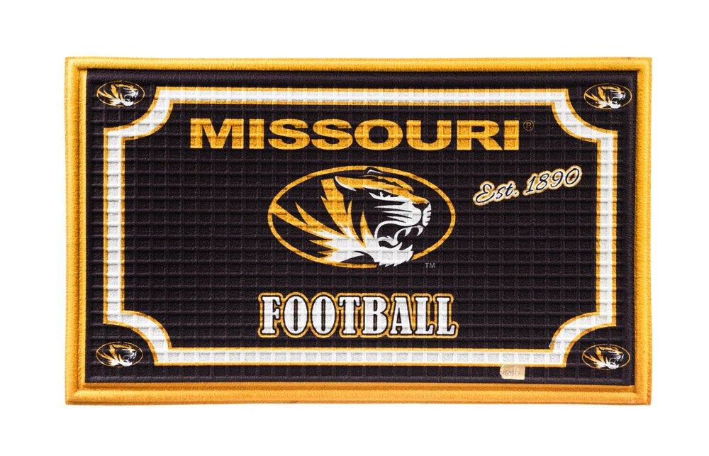 Team Sports America 41EM930 Missouri Embossed Door Mat Multicolor