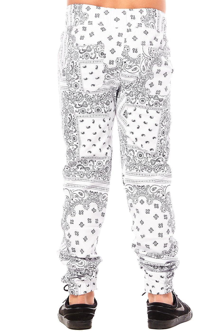 Boys Kids Childrens Bandana Sublimation Slim Joggers Pants BBP011