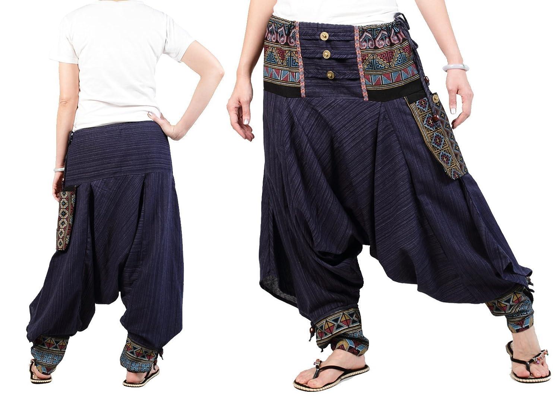 Amazon.com: (BP05-NB) Ninja Pants,Unisex Pants,Harem Pants ...