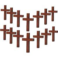 70 Piezas de Madera Colgantes Cruzados DIY Encantos