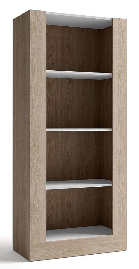 Miroytengo Biblioteca para salón Comedor librería 4 estantes ...