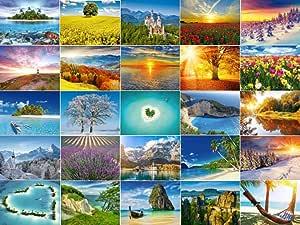 Juego de tarjetas postales con diseño de paisajes de tierra, 30 ...