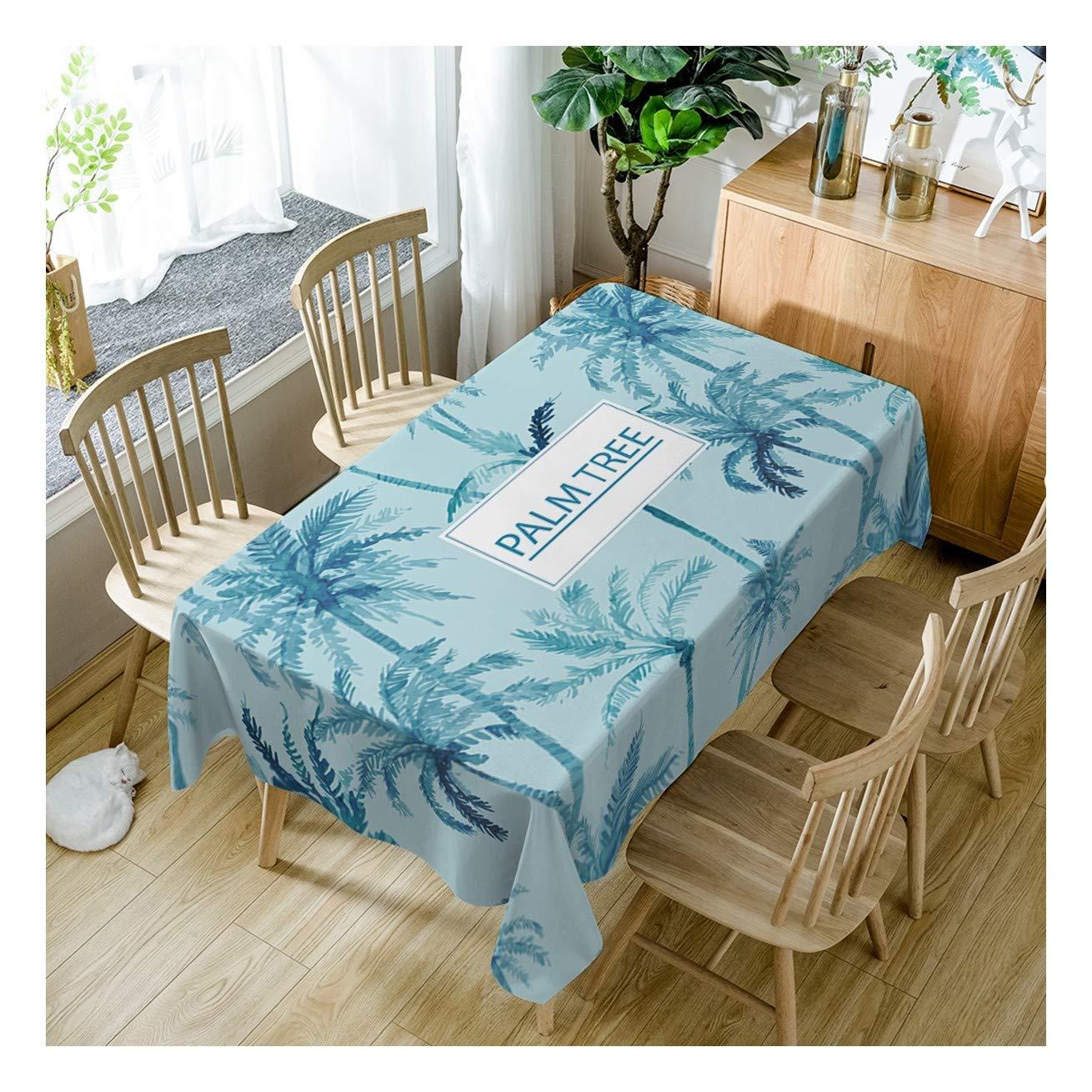 increíbles descuentos ZHAOXIANGXIANG Tabla Lavable Mat Elegante Azul Creativos Cocotero Patrón Decoracion Decoracion Decoracion Un Mantel,140Cmtimes;280Cm  punto de venta de la marca
