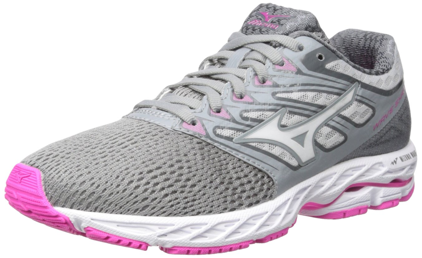 Mizuno Women's Wave Shadow Running Shoe B01NCJC361 10.5 B(M) US|Griffin/White/Electric