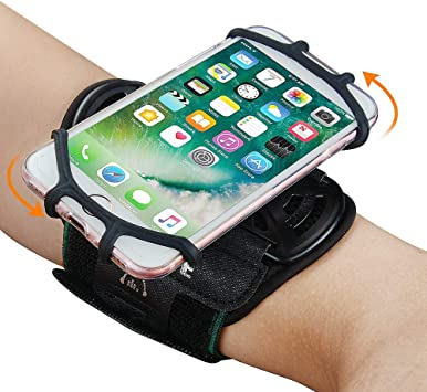 Brazalete deportivo, brazalete giratorio a 360 ° Soporte universal para smartphone, apto para pantalla de 4-6.5
