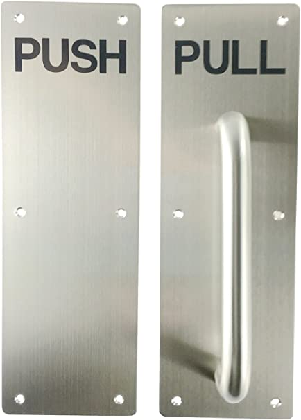 Image result for pushing a door that says pull
