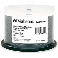 Verbatim BD-R 25GB 6X DataLifePlus White Thermal Printable, Hub Printable - 50pk Spindle 97338