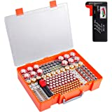 Battery Storage Organizer Holder, 226 Battery Organizer Case with Battery Tester. Batteries Storage Containers Box Fits for AA AAA 9V C D 23A CR123 Lithium 3V LR44 CR2016 CR1632 CR2032 CR2025
