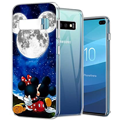 DISNEY COLLECTION Phone Case Compatible Samsung Galaxy S10 Plus Crystal Side Bumper Soft TPU Cover Shookproof Shell Mickey and Minnie are Dating