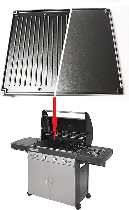 ALTIGASI Repuesto original – Placa de hierro fundido reversible para placa de cocción Barbacoa 4 Series Campingaz