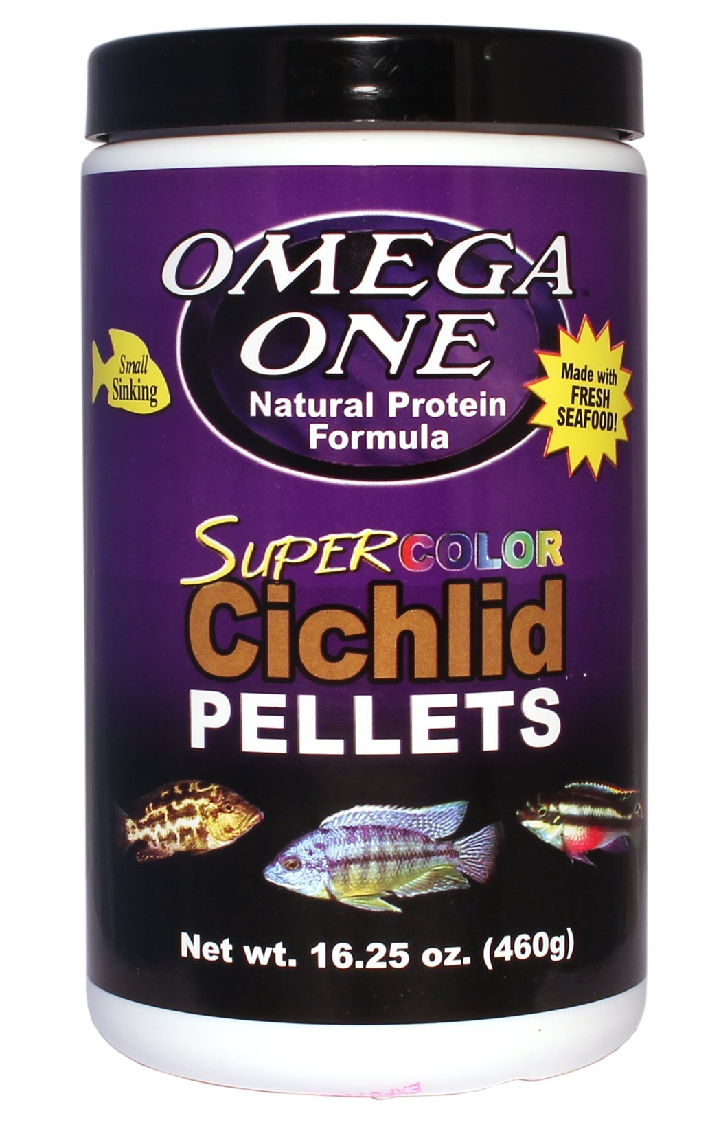 Omega One Super Color Cichlid Small Pellets 16.25oz