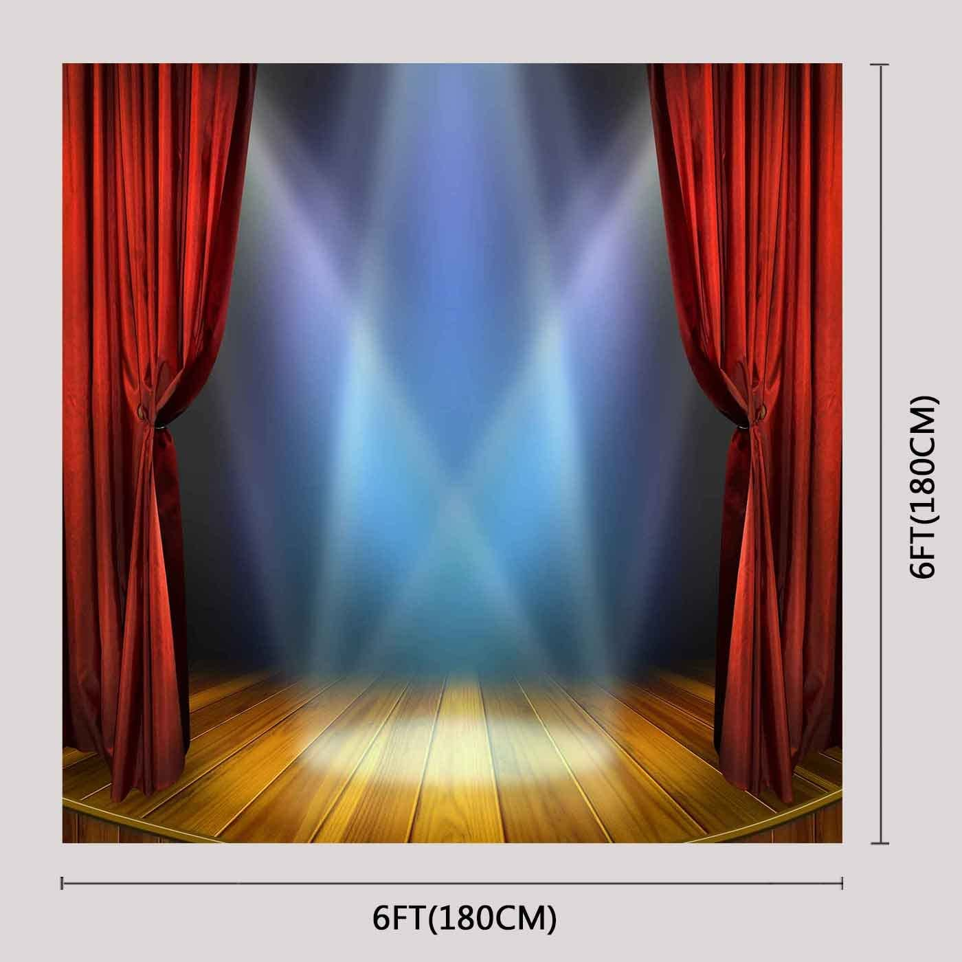 6x6FT Vinyl Backdrop Photographer,Music,Blues Jazz Punk Rock Sign Background for Party Home Decor Outdoorsy Theme Shoot Props