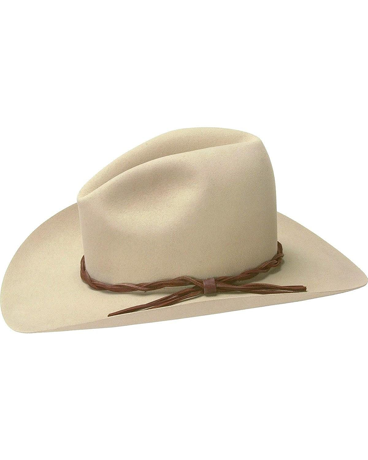 54f1577f03930 Stetson Men s 6X Gus Fur Felt Cowboy Hat Silverbelly 7 5 8 at Amazon Men s  Clothing store