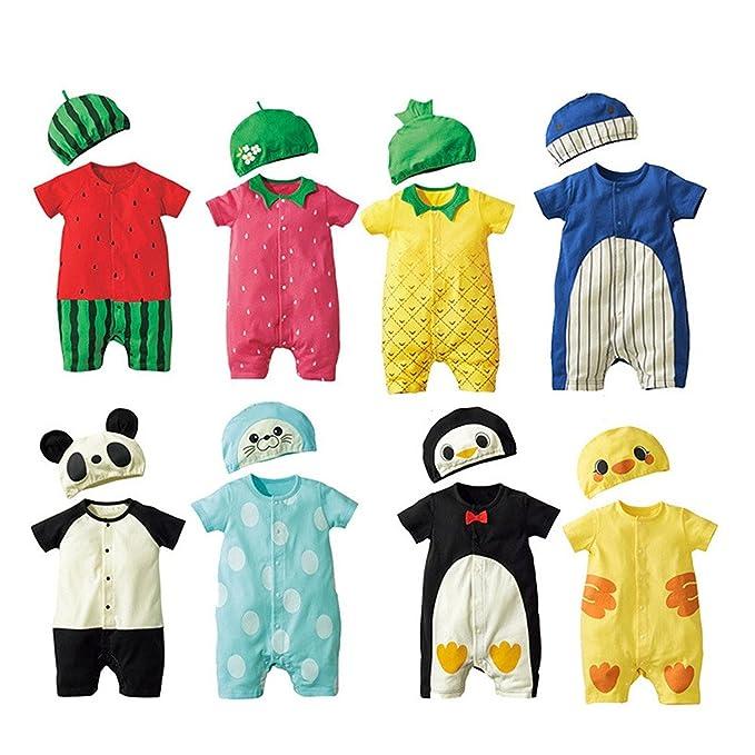 Amazon.com: Jojobaby - Body unisex para bebé con sombreros ...