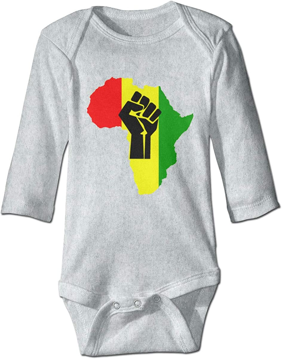 Marsherun Newborn Baby Girls and Boys African Black Power Long Sleeve Bodysuit Clothes Playsuits