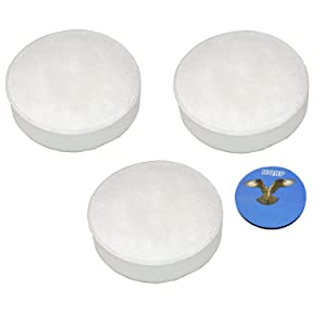 HQRP 3-Pack Foam Filters for Hoover Cyclonic SH20030, Linx BH50010 BH50015 BH50030, TaskVac CH20110 Stick & Hand Vacuums Plus Coaster