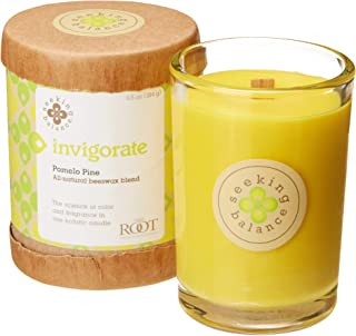 product image for Root Candles Seeking Balance Spa Candle, 6.5-Ounce, Invigorate: Pomelo Pine