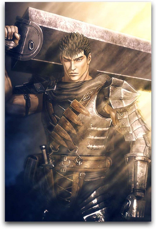 ROTOOY Berserk - Póster de guerrero de espada gigante (30 x 45 cm)
