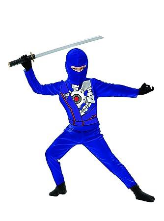 Charades Kids Childs Ninja Avenger Series 4 Costume Childrens Costume, Blue, X-Small